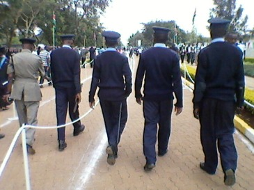Kenya police force in Kenyatta University